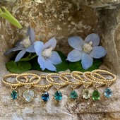 Which one is your favorite ? 💙💚    #AlexandraAbramczyk #ColorYourLifeWithAlexandra #Rainbow #RainbowJewelry #Itsallaboutchakra #chakra #rainbow #bluegreen #rings #zamourettes #colors